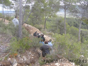 Una visita guiada a les trinxeres de la Cota 402. Foto: latrinxera.es